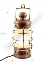 Electric Lanterns - Nautical Lanterns Antique Brass Nelson - 15.5""
