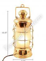 Electric Lanterns - Nautical Lanterns Brass Nelson - 15.5""