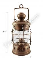 Nautical Lanterns - Antique Brass Nelson - 13.5""